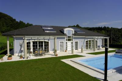 TONDACH® Figaro kerámia tetőcserép antracit színben - tető ötlet, klasszikus stílusban