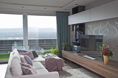 Nappali panorámával - nappali ötlet, modern stílusban