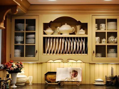 Szép konyhabútor - konyha / étkező ötlet, klasszikus stílusban