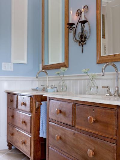 Szépséges fürdőszobabútor - fürdő / WC ötlet, klasszikus stílusban