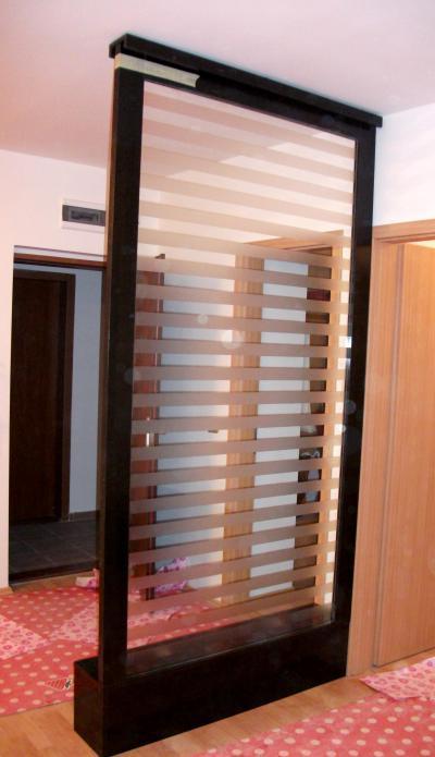 Üvegezett térelválasztó - belső továbbiak ötlet, modern stílusban