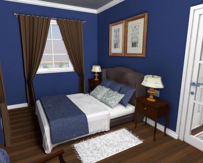 Hálószoba klasszikus bútorokkal - háló ötlet, klasszikus stílusban