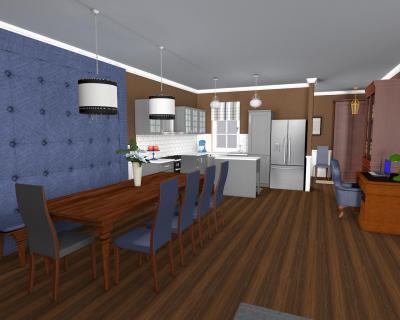 Tűzött falburkolat az étkezőben - konyha / étkező ötlet, klasszikus stílusban