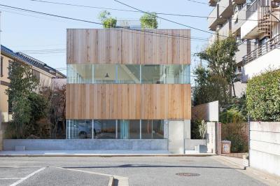 Modern lakóház fa homlokzat burkolattal - homlokzat ötlet, modern stílusban