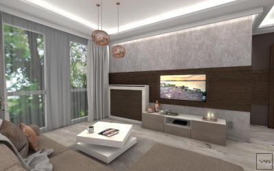 Ötletes világítás - nappali ötlet, modern stílusban