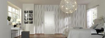 Klasszikus fa beltéri ajtó modern környezetben - háló ötlet, modern stílusban