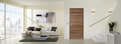 Modern enteriőr látványos beltéri ajtóval - nappali ötlet, modern stílusban