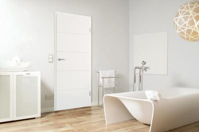 Beltéri ajtó minimál stílusban - fürdő / WC ötlet, minimál stílusban