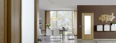 Modern beltéri ajtó üvegbetéttel - nappali ötlet, modern stílusban