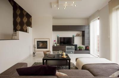 Légies, szellős nappali - nappali ötlet, modern stílusban