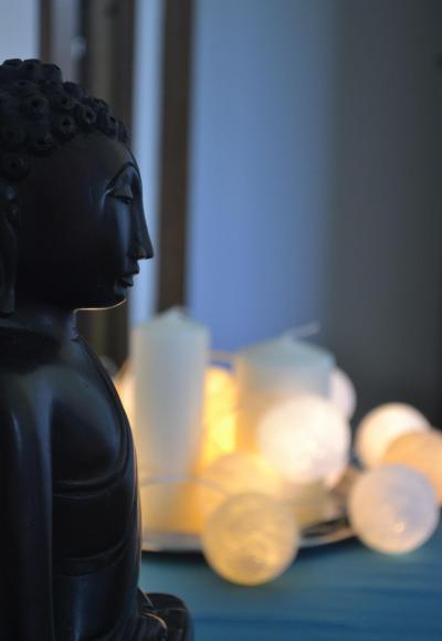 Buddha fej, mint dekoráció - belső továbbiak ötlet, egzotikus stílusban