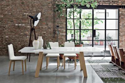 Giove wood kihúzható étkezőasztal - nappali ötlet, modern stílusban