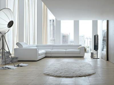 Blues kanapé - nappali ötlet, modern stílusban