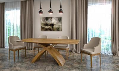 X-table étkezőasztal - nappali ötlet, modern stílusban