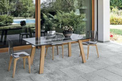 Giove wood kihúzható étkezőasztal - konyha / étkező ötlet, modern stílusban