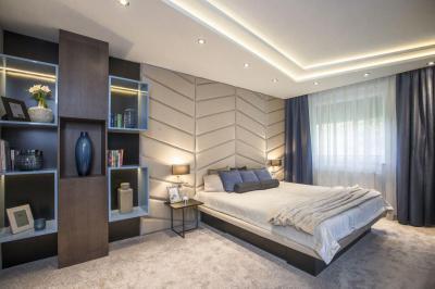 Kényelmes, otthonos hálószoba - háló ötlet, modern stílusban