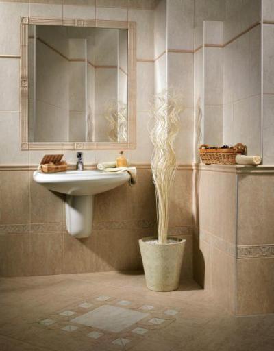 Zalakerámia Travertino burkolólap család - fürdő / WC ötlet, klasszikus stílusban