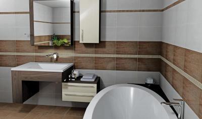 Zalakerámia Woodshine burkolólap család - fürdő / WC ötlet