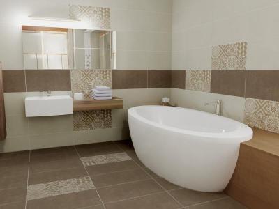 Zalakerámia Cementi burkolólap család - fürdő / WC ötlet, modern stílusban