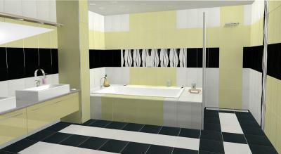 Zalakerámia Carneval burkolólap család - fürdő / WC ötlet, modern stílusban