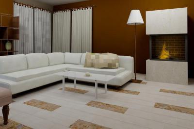 Zalakerámia Amazonas burkolólap család - nappali ötlet, modern stílusban