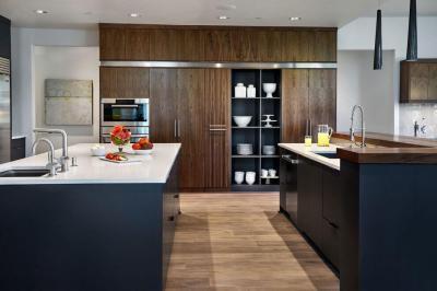 Dupla konyhasziget - konyha / étkező ötlet, modern stílusban