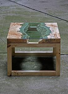 Egyedi dohányzóasztal - nappali ötlet