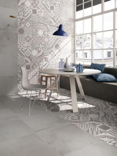 Supergres Art Sala Pranzo Cementine - nappali ötlet, modern stílusban