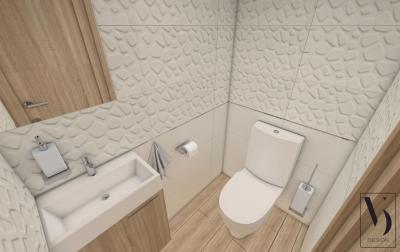 Natúr hatású vécé helyiség - fürdő / WC ötlet, modern stílusban
