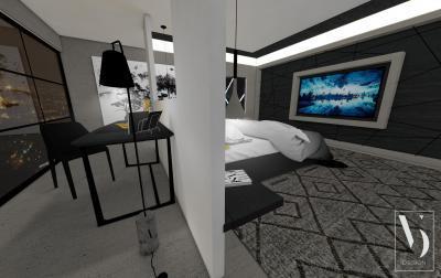 Dolgozósarok a hálószobában - háló ötlet, modern stílusban