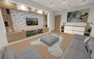 Nappali világos és natúr színekkel - nappali ötlet, modern stílusban