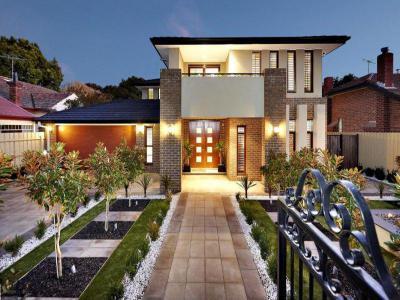 Különböző formák és alakzatok a háztetőn9 - homlokzat ötlet, modern stílusban