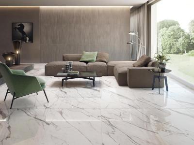Supergres Purity Statuario Lux Living - nappali ötlet, modern stílusban