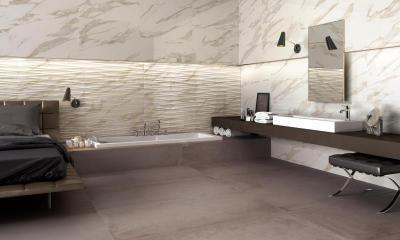 Supergres Purity Bagno Hotel Calacatta Art Tobacco - fürdő / WC ötlet, modern stílusban
