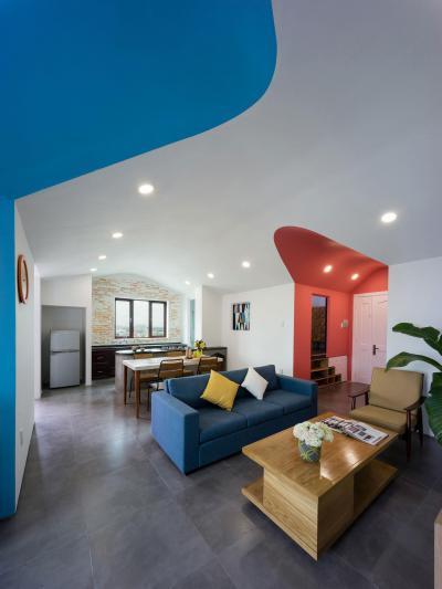 Egyterű nappali, konyha, étkező - nappali ötlet, modern stílusban