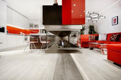 Különleges részletek egy kicsi lakásban - nappali ötlet, modern stílusban