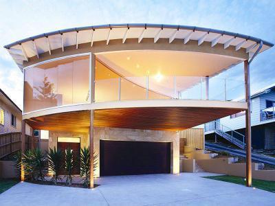 Különböző formák és alakzatok a háztetőn20 - tető ötlet, modern stílusban