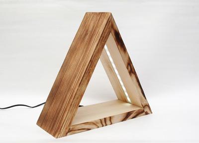 Minimalista design éjjeli lámpa fából