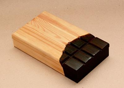 Csoki papírban csoki doboz