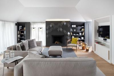 Kifinomult nappali - nappali ötlet, modern stílusban