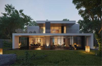 Látványos modern lakóház - homlokzat ötlet, modern stílusban