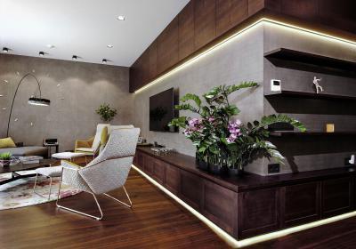 Különleges világítás - nappali ötlet, modern stílusban