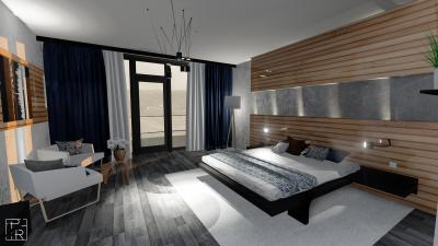 Egyedi falpanel a hálószobában - háló ötlet, modern stílusban