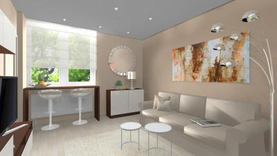 Nappali bézs és barna színekben - nappali ötlet, modern stílusban