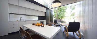 A konyha mint pihenőhelyiség - konyha / étkező ötlet, modern stílusban