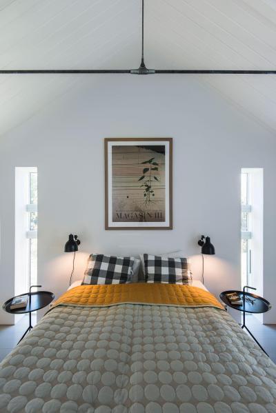 Hálószoba a tetőtérben - háló ötlet, modern stílusban
