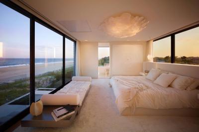 Hálószoba fehérben - háló ötlet, modern stílusban