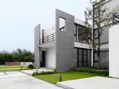 Geometria a homlokzaton - homlokzat ötlet, modern stílusban