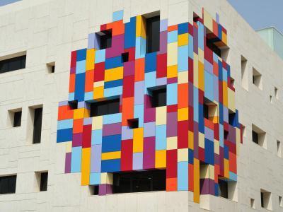 Jellegzetes homlokzat Lambda Trespa Meteon homlokzatburkolattal - homlokzat ötlet, modern stílusban