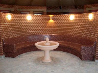 Wellness helyiség Lambda Wedi építőlemezzel kialakítva - belső továbbiak ötlet, modern stílusban